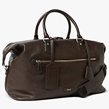 Buy Polo Ralph Lauren Pebble Leather Duffle Bag, Brown Online at johnlewis.com