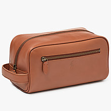 Buy Polo Ralph Lauren Leather Shave Kit Wash Bag, Tan Online at johnlewis.com