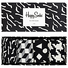 Buy Happy Socks Papercut Sock Gift Box, Pack of 4, Black/Multi Online at johnlewis.com