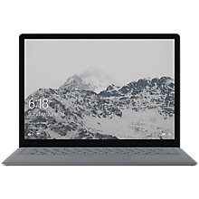 "Buy Microsoft Surface Laptop, Intel Core i5, 4GB RAM, 128GB SSD, 13.5"" PixelSense Display, Platinum Online at johnlewis.com"