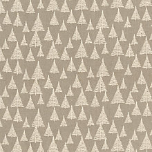 Buy John Louden Christmas Tree Print Fabric, Grey/Cream Online at johnlewis.com