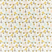 Buy John Louden Merry and Bright Festive Car Print Fabric, Cream Online at johnlewis.com