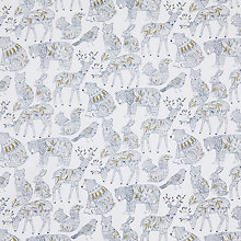Buy Dashwood Studio Norrland Scandinavian Animal Print Fabric, White/Navy Online at johnlewis.com