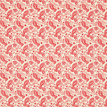 Buy John Louden Bird Print Fabric, Cream/Red Online at johnlewis.com