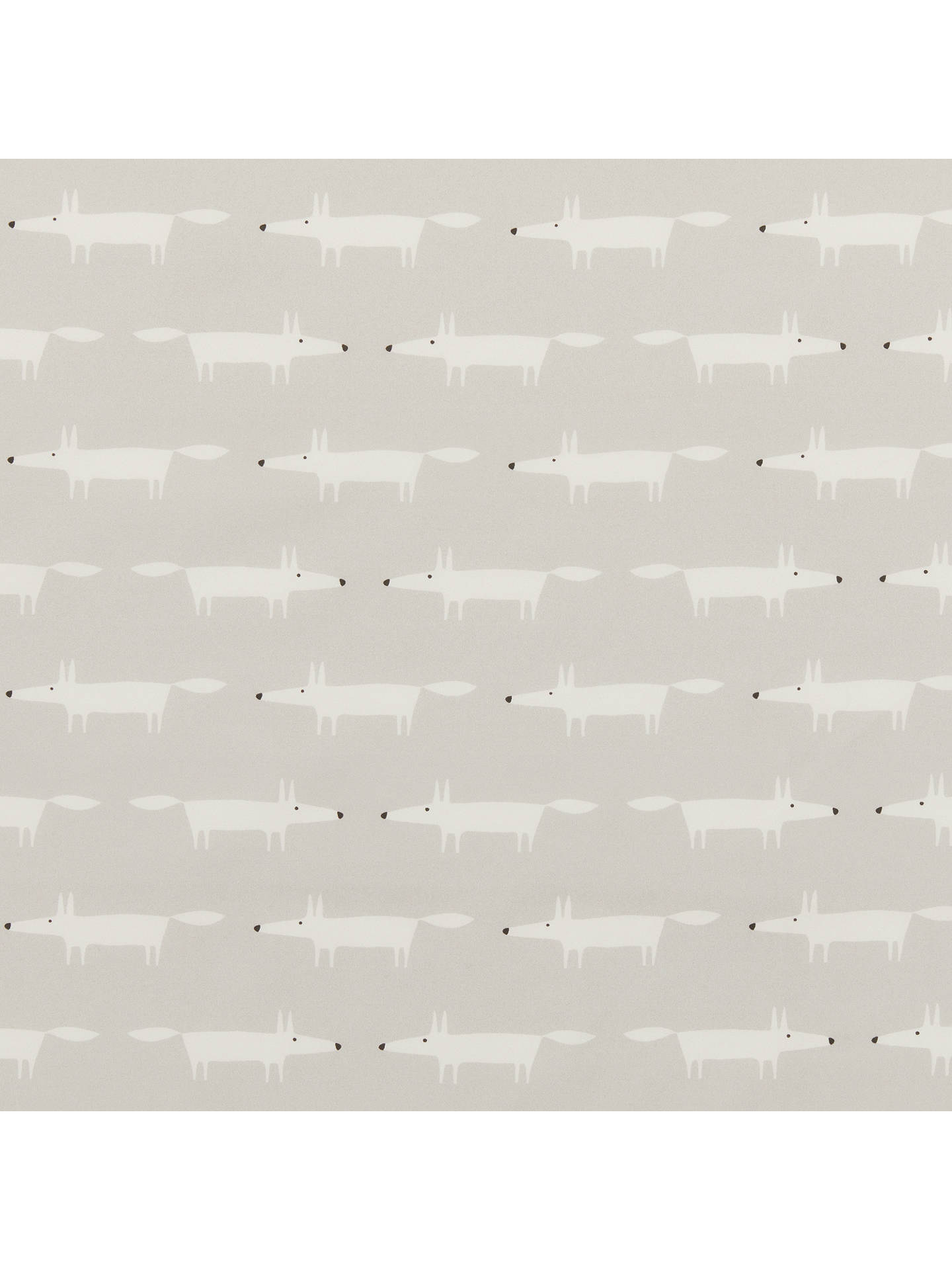 Buy Scion Little Mr Fox Print Fabric, Grey Online at johnlewis.com