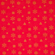 Buy John Louden Snowflakes and Dots Fabric Online at johnlewis.com