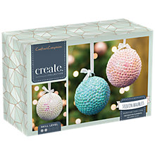 Buy Crafter's Companion Make Your Own Sequin Baubles Craft Kit, Pack of 3 Online at johnlewis.com