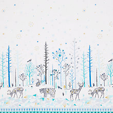 Buy Dashwood Studio Norrland Double Border Print Fabric, White/Blue Online at johnlewis.com
