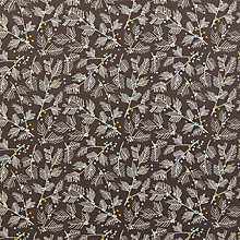 Buy John Louden Merry and Bright Mistletoe Print Fabric, Taupe Online at johnlewis.com