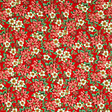 Buy Oddies Textiles Poinsettia Print Fabric, Red Online at johnlewis.com