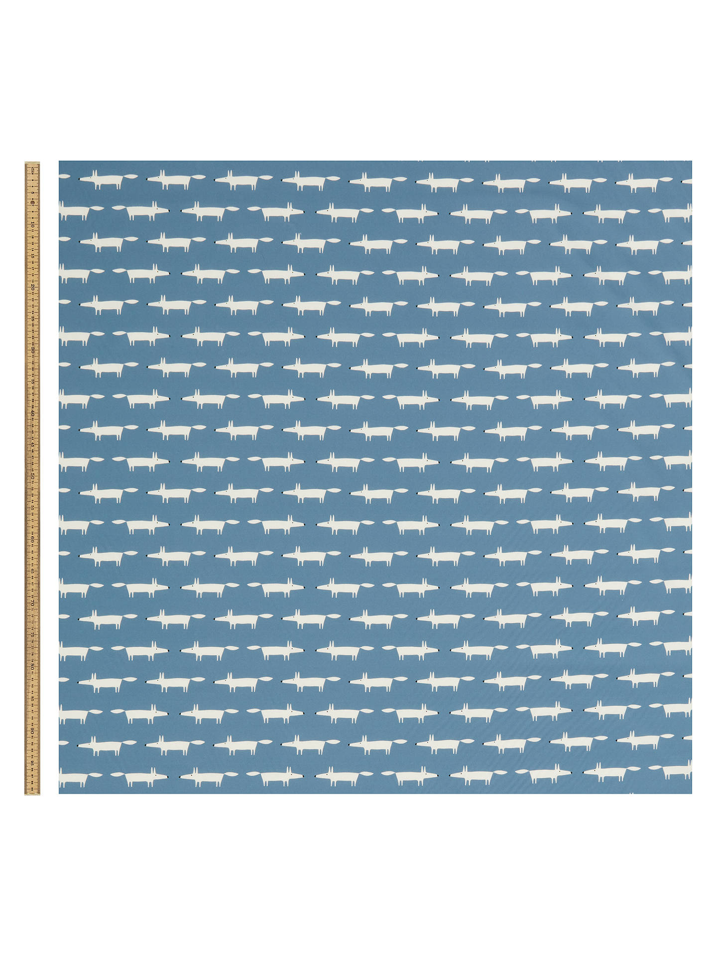 Buy Scion Little Mr Fox Print Fabric, Navy Online at johnlewis.com