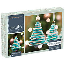 Buy Crafter's Companion Create Your Own Felt Christmas Tree Decorations, Pack of 3 Online at johnlewis.com