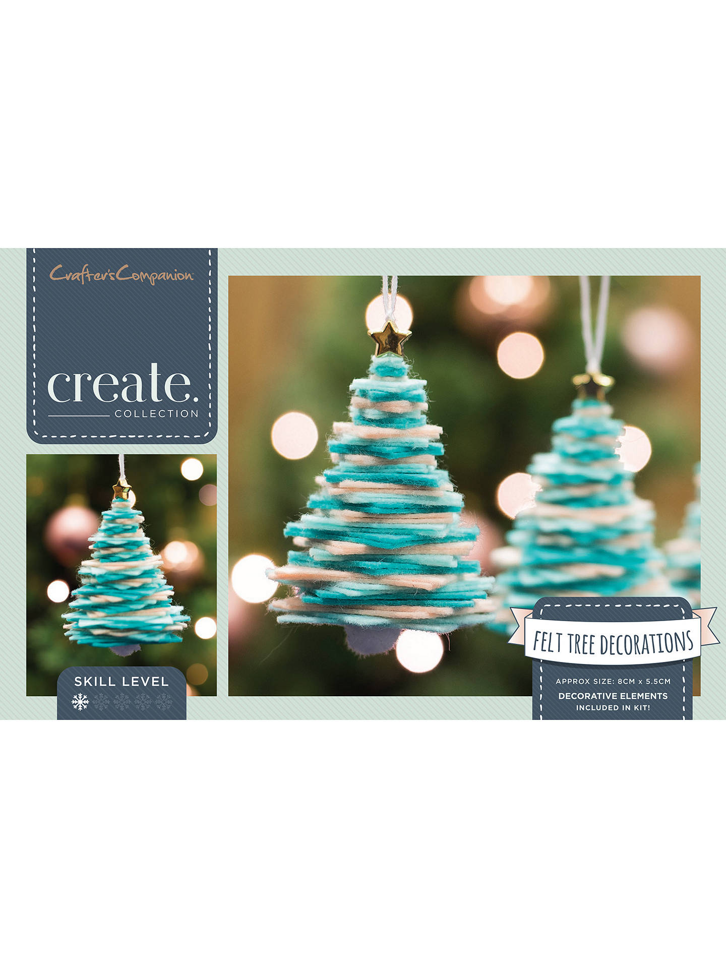 John Lewis Christmas Tree Themes.Crafter S Companion Create Your Own Felt Christmas Tree