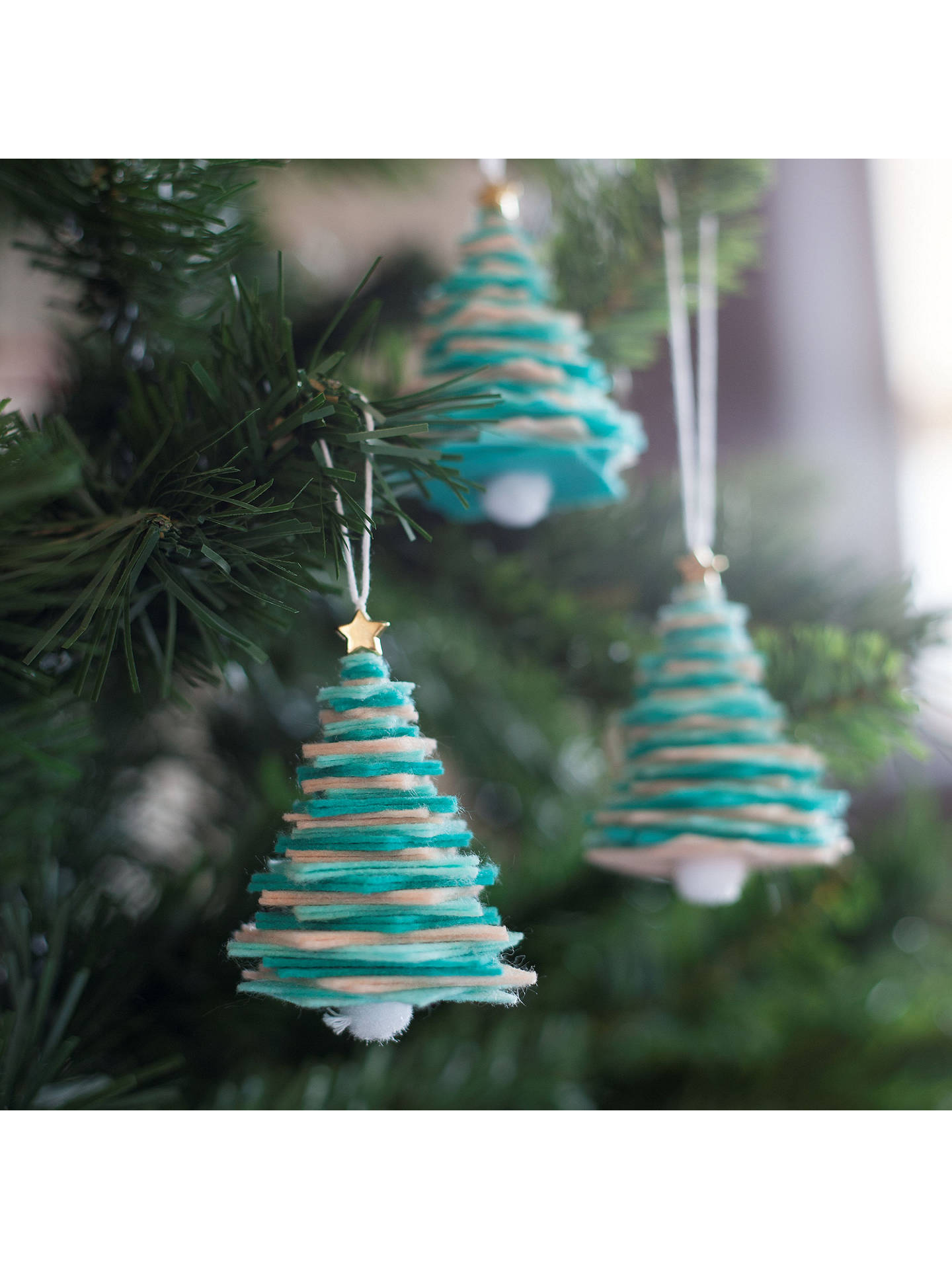 John Lewis Christmas Tree Decorations.Crafter S Companion Create Your Own Felt Christmas Tree
