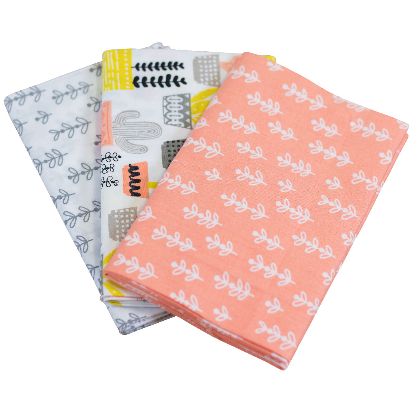 BuyCrafter's Companion Home Grown Cactus Print Fat Quarter Fabrics, Pack of 3, Pink/Multi Online at johnlewis.com
