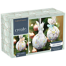 Buy Crafter's Companion Make Your Own Fabric Baubles Craft Kit, Pack of 3 Online at johnlewis.com