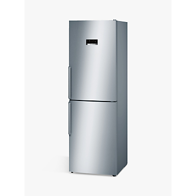Bosch KGN34XL35G Freestanding Fridge Freezer, A++ Energy Rating, 60cm Wide, Stainless Steel
