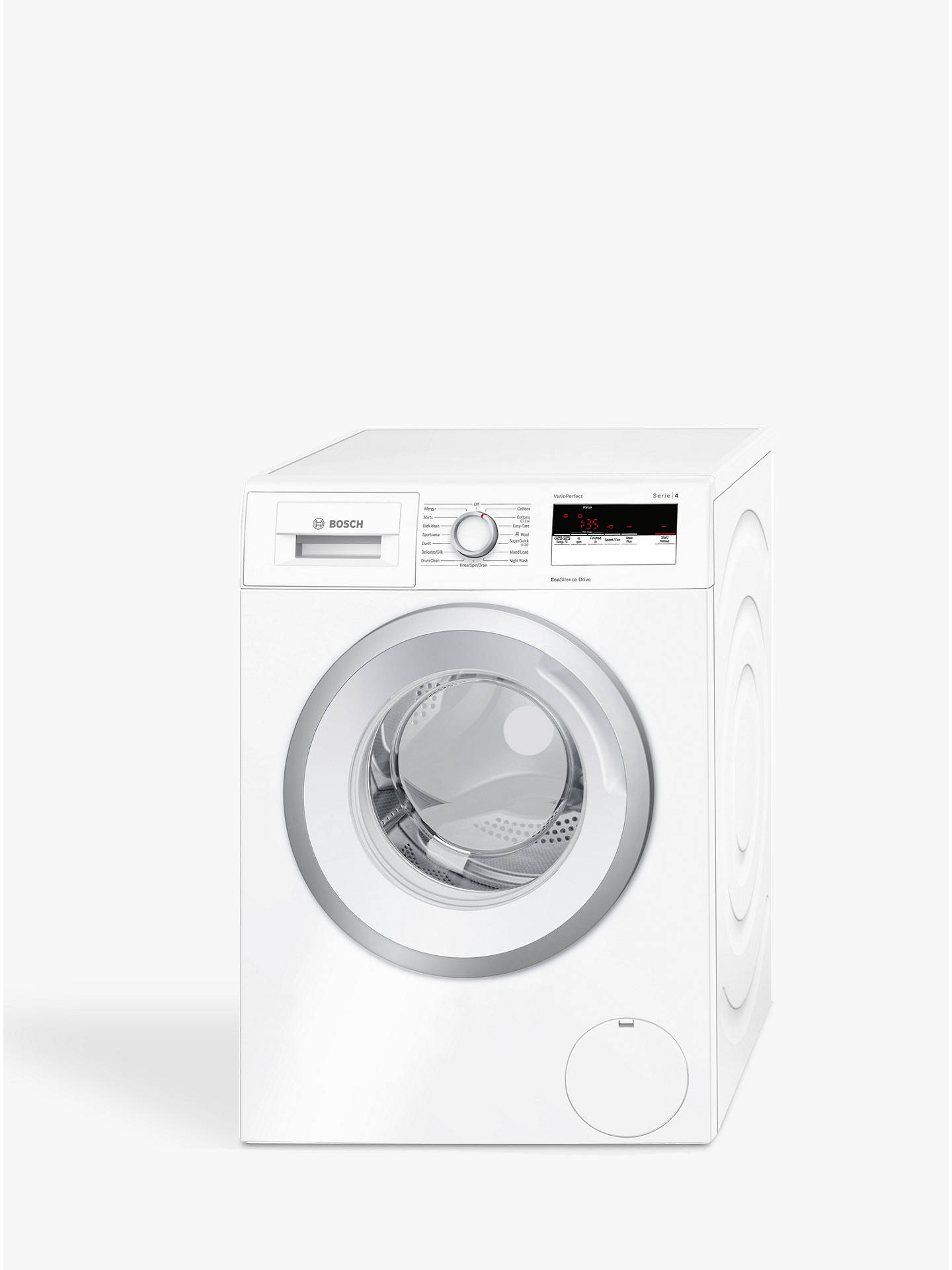 BuyBosch WAN24100GB Freestanding Washing Machine, 7kg Load, A+++ Energy Rating, 1200rpm Spin, White Online at johnlewis.com