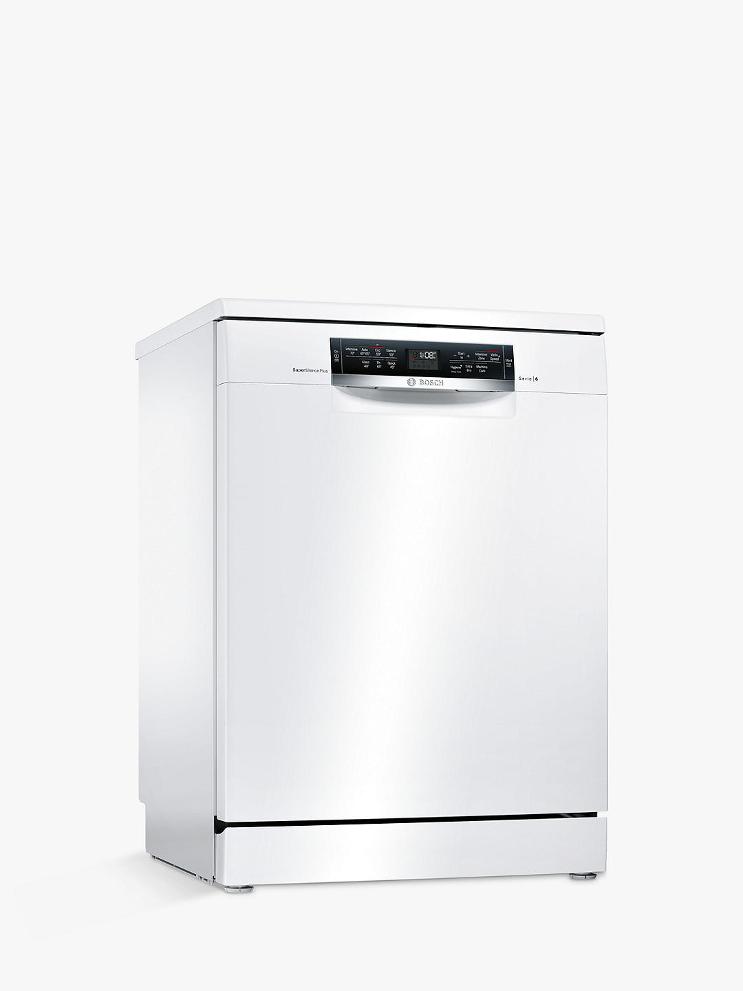 Buy Bosch SMS67MW01G Freestanding Dishwasher, White Online at johnlewis.com