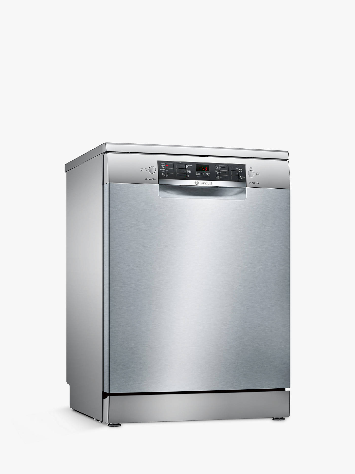 Buy Bosch SMS46II00G Freestanding Dishwasher, Silver Online at johnlewis.com