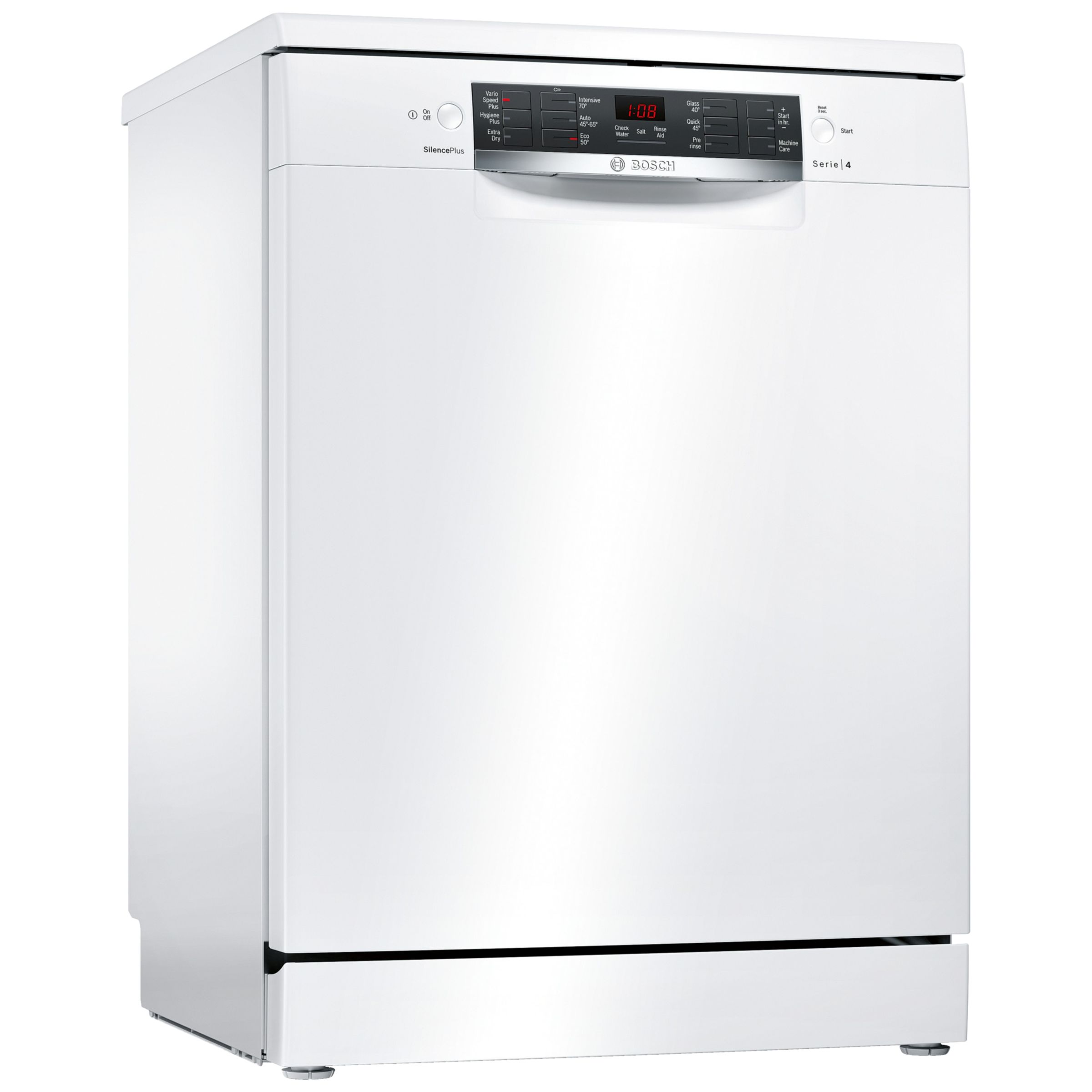 bosch sms46iw02g freestanding dishwasher white octer. Black Bedroom Furniture Sets. Home Design Ideas