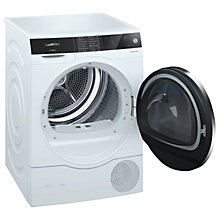 Buy Siemens WT7UH640GB Freestanding Heat Pump Condenser Tumble Dryer, 8kg Load, A+++ Energy Rating, White Online at johnlewis.com