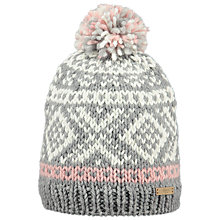Buy Barts Log Cabin Beanie, One Size, Grey Online at johnlewis.com