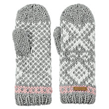 Buy Barts Log Cabin Mittens, One Size, Grey Online at johnlewis.com