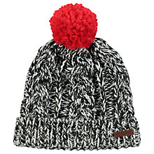 Buy Barts Neak Beanie, One Size, Black/Red Online at johnlewis.com