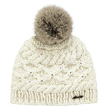 Buy Barts Claire Children's Beanie, One Size, Cream Online at johnlewis.com
