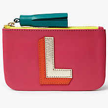 Buy John Lewis Initial Leather Coin Purse Online at johnlewis.com