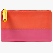 Buy John Lewis Leather Tassel Pouch Online at johnlewis.com