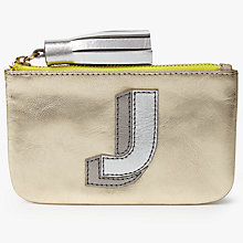 Buy John Lewis 'J' Initial Leather Coin Purse, Gold/Multi Online at johnlewis.com