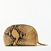 Buy Modern Rarity Carmenere Leather Cosmetic Bag, Multi Online at johnlewis.com