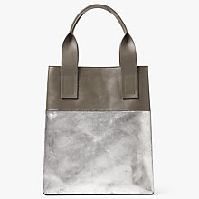 Buy Kin by John Lewis Sara Leather Colourblock Tote Bag Online at johnlewis.com