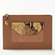 Buy Modern Rarity Carmenere Leather Pouch Purse, Brown/Multi Online at johnlewis.com
