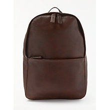 Buy John Lewis Gladstone 2.0 Leather Backpack, Brown Online at johnlewis.com