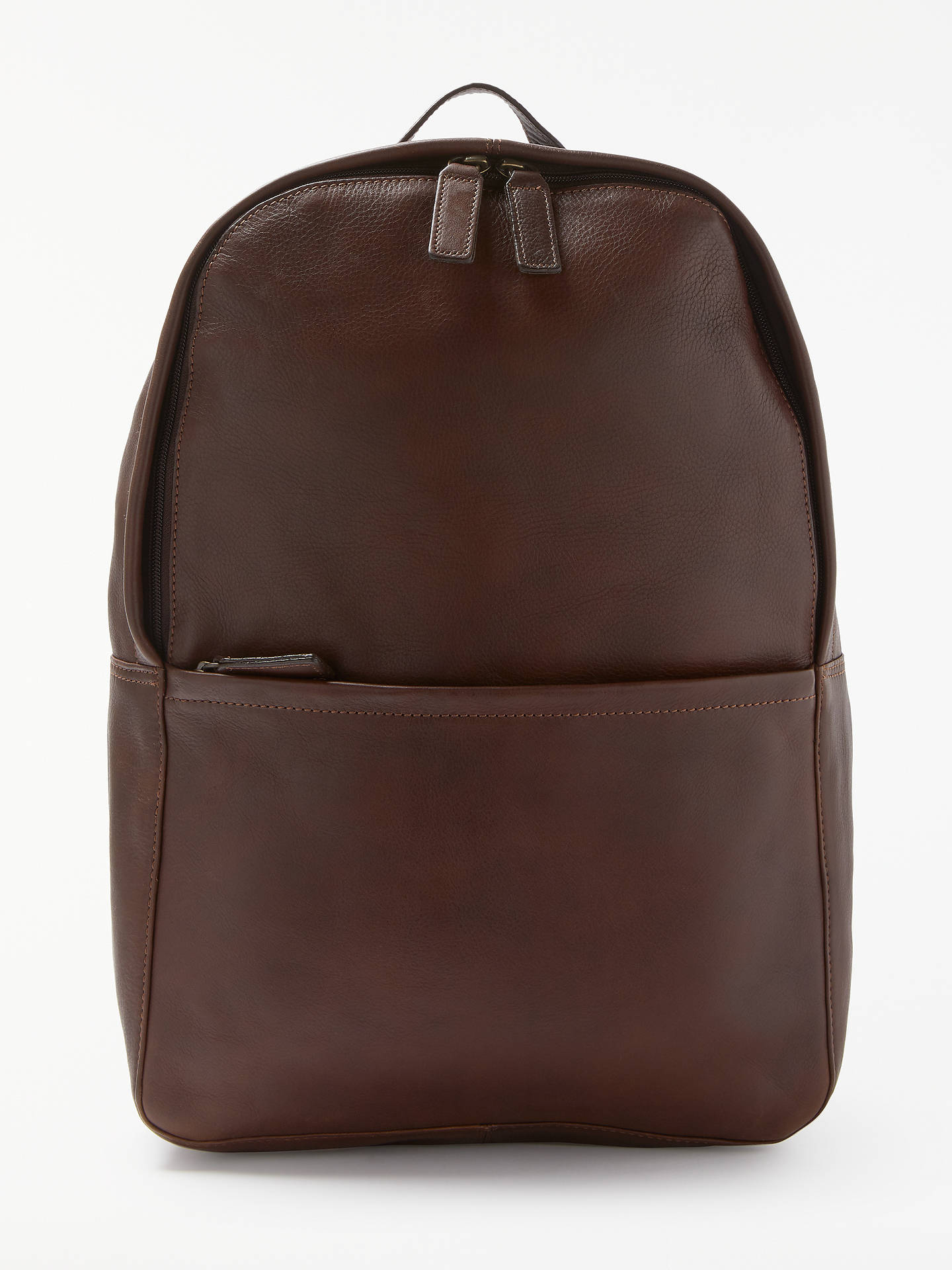 a04843168e76d Buy John Lewis & Partners Gladstone 2.0 Leather Backpack, Brown Online at  johnlewis. ...