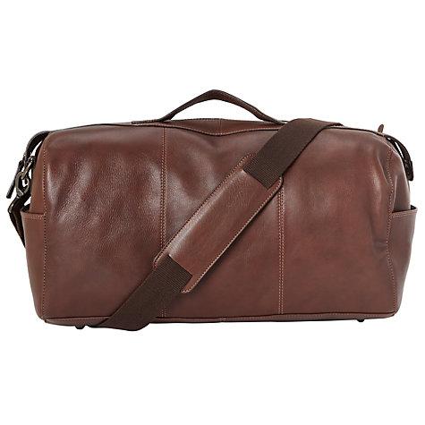 Buy John Lewis Gladstone 20 Leather Barrel Bag Brown Online At Johnlewis
