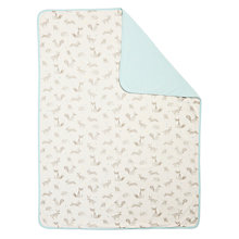 Buy John Lewis Baby Forest Friends Swaddle Blanket, Blue Online at johnlewis.com