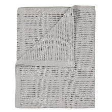 Buy John Lewis Baby Cot/Cotbed Cellular Blanket, Grey Online at johnlewis.com