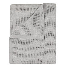 Buy John Lewis Baby Pram Cellular Blanket, Grey Online at johnlewis.com
