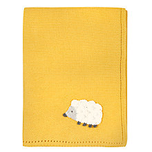Buy John Lewis Baby Forest Friends Crochet Sheep Blanket Online at johnlewis.com