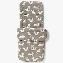 Buy John Lewis Baby Forest Friends Pushchair Footmuff, Grey Online at johnlewis.com