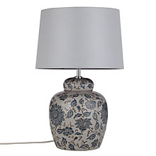Buy John Lewis Emily Lamp Base with Gemma Shade, Blue / Light Grey Online at johnlewis.com