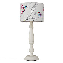 Buy John Lewis Katie Lamp Base with Hummingbird Shade, White / Multi Online at johnlewis.com
