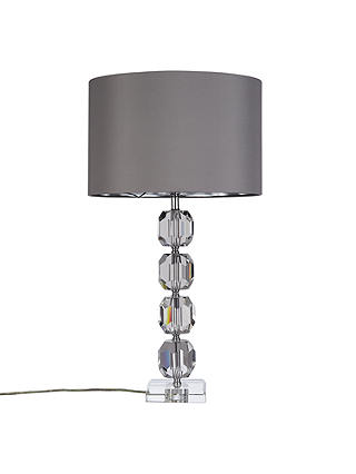 Buy John Lewis Zermatt Crystal base with Cassie shade Table Lamp, Clear / Silver Online at johnlewis.com