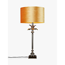 Buy India Jane Palm Leaf Base with John Lewis Jenny Shade Table Lamp, Nickel / Amber Online at johnlewis.com