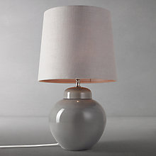 Buy John Lewis Prudence Base with Darcey Tall Shade Table Lamp, Grey / Grey Online at johnlewis.com