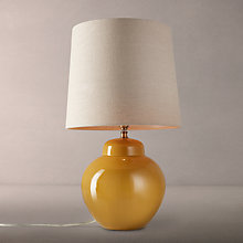 Buy John Lewis Prudence Base with Darcey Tall Shade Table Lamp, Grey / Natural Online at johnlewis.com